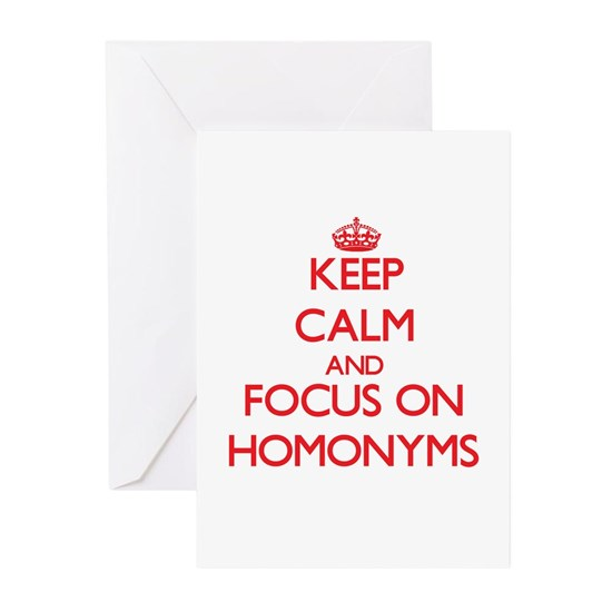 Keep Calm and focus on Homonyms