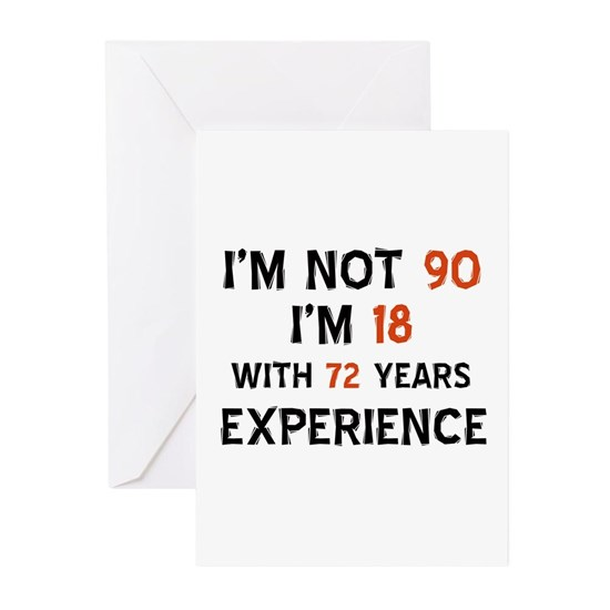 90 Years Birthday Greeting Cards Pk Of 10 Year Old Designs
