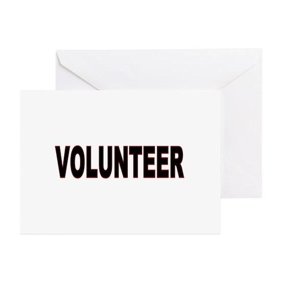 VOLUNTEER Items Greeting Cards (Pk of 10) by JanLynn