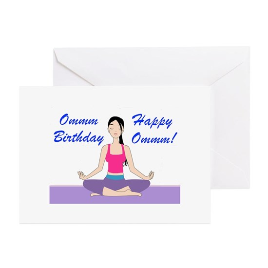 Happy Birthday Greeting Cards Pk Of 10 Yoga Card