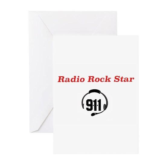 Radio Rock Star Greeting Cards (Pk of 10) Radio Rock Star