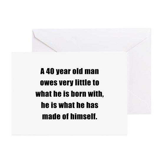 40man Button Greeting Cards Pk Of 10 40th Birthday Gifts For Men