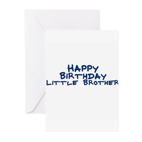 Happy Birthday Little Brother Greeting Cards Pack Pk Of 10