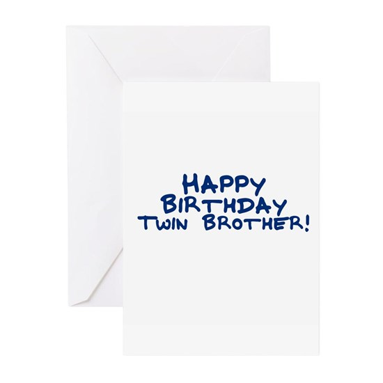 I1207060349142 Hover To Zoom Greeting Cards Happy Birthday Twin Brother