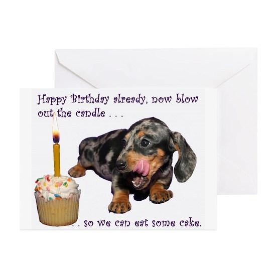 IMG 8147a Greeting Cards Pk Of 10 Dachshund Happy Birthday