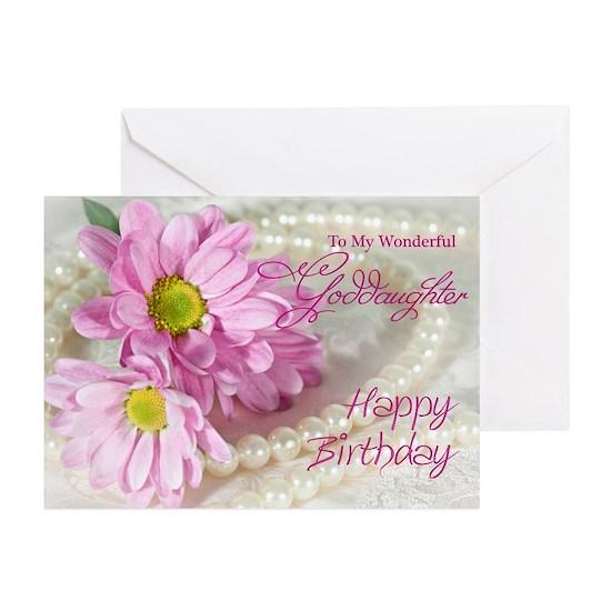 Verse2 Greeting Cards Pk Of 10 Goddaughter Birthday Card