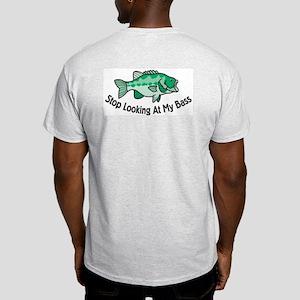 037db3fe6d Stop Looking At My Bass Ash Grey T-Shirt