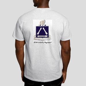 Ash Grey T-Shirt w/180th Crest Back