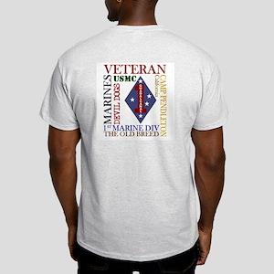1MarDiv Vet 2-Side Light T-Shirt