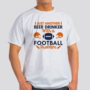 Beer Drinker Football White T-Shirt