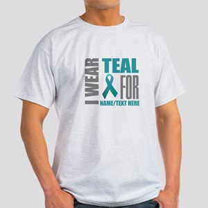 Teal Awareness Ribbon Customized Light T-Shirt