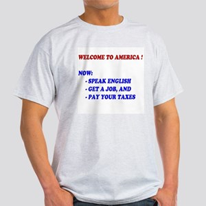 Welcome To America Ash Grey T-Shirt