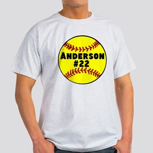 Personalized Softball Dark T-Shirt