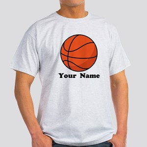 Personalized Basketball Light T-Shirt