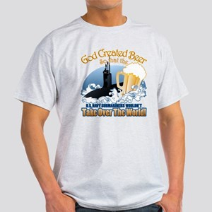 God Created Beer (Submariner) Light T-Shirt