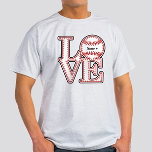 Personalized Front and Back Love Baseball Light T-