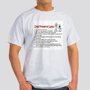 Dog Property Laws Ash Grey T-Shirt