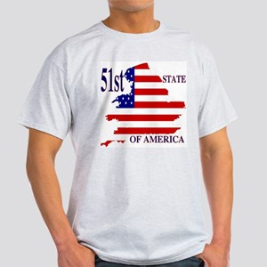 51st State of America Ash Grey T-Shirt