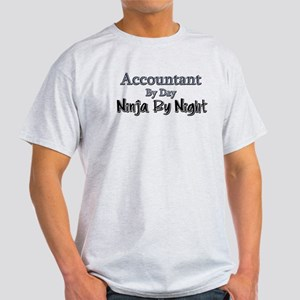 Accountant by Day Ninja by Night Light T-Shirt