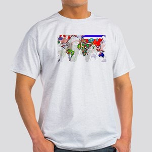 World Flags Map Light T-Shirt