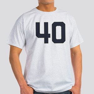 40 40th Birthday 40 Years Old Light T-Shirt