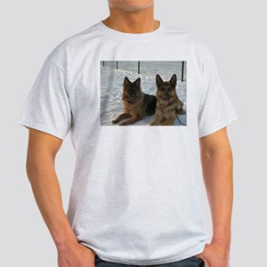 2 german shepherds T-Shirt