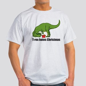 T-rex hates Christmas Light T-Shirt