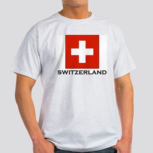 Flag of Switzerland Ash Grey T-Shirt