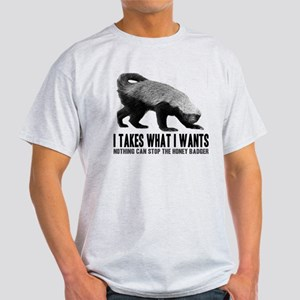 Honey Badger Speaks Light T-Shirt