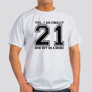 21st Birthday Light T-Shirt