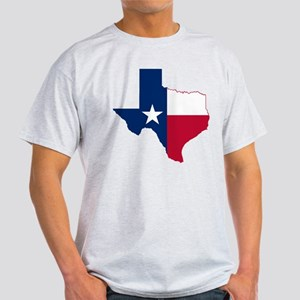 Texas Flag Map - Light T-Shirt