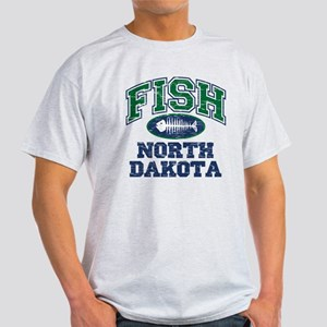 Fish North Dakota Light T-Shirt