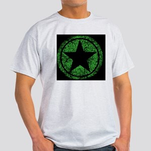 distressed green starMP Light T-Shirt