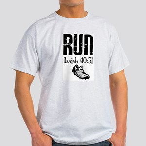 Isaiah 40:31 Run White T-Shirt
