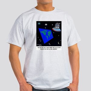 Flat Earth & No Global Warming Dark T-Shirt