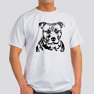 PIT BULL HEAD BLACK Light T-Shirt