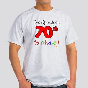 Its Grandpas 70th Birthday Light T-Shirt