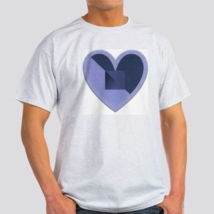 Turquoise and Blue Heart Light T-Shirt