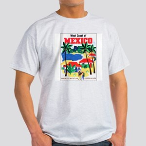 Mexico West Coast (Front) Ash Grey T-Shirt