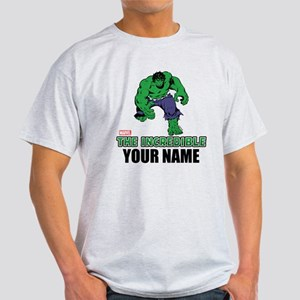 The Incredible Hulk Personalized Des Light T-Shirt