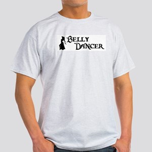 Belly Dancer Pose Ash Grey T-Shirt