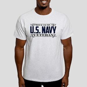 53f26e8b88f Proud To Be A U.S. Navy Veteran Light T-Shirt
