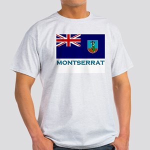 Montserrat Flag Stuff Ash Grey T-Shirt