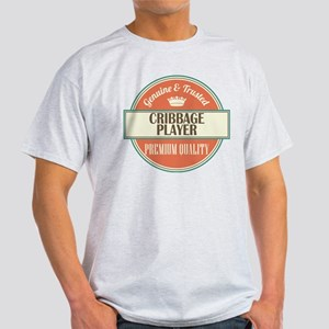 cribbage player vintage logo Light T-Shirt