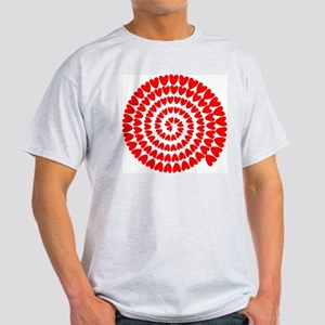 Red hearts spiral T-Shirt