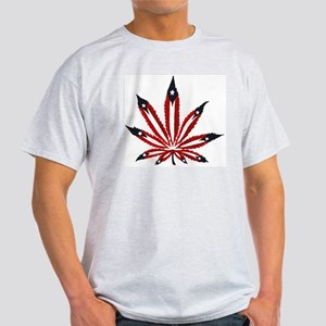 PR Weed Leaf Light T-Shirt