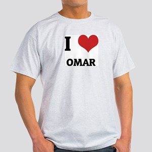 I Love Omar Ash Grey T-Shirt