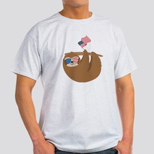 Sloth, Independence Day, 4th of July T-Shirt