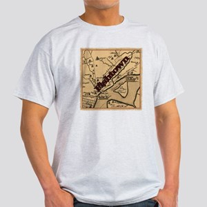 Philadelphia Fishtown map ca.1752 Light T-Shirt