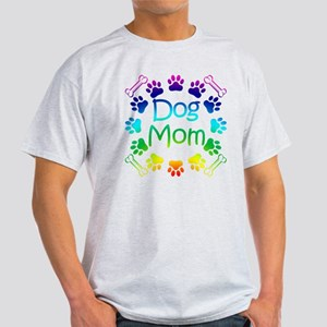 """Dog Mom"" Light T-Shirt"